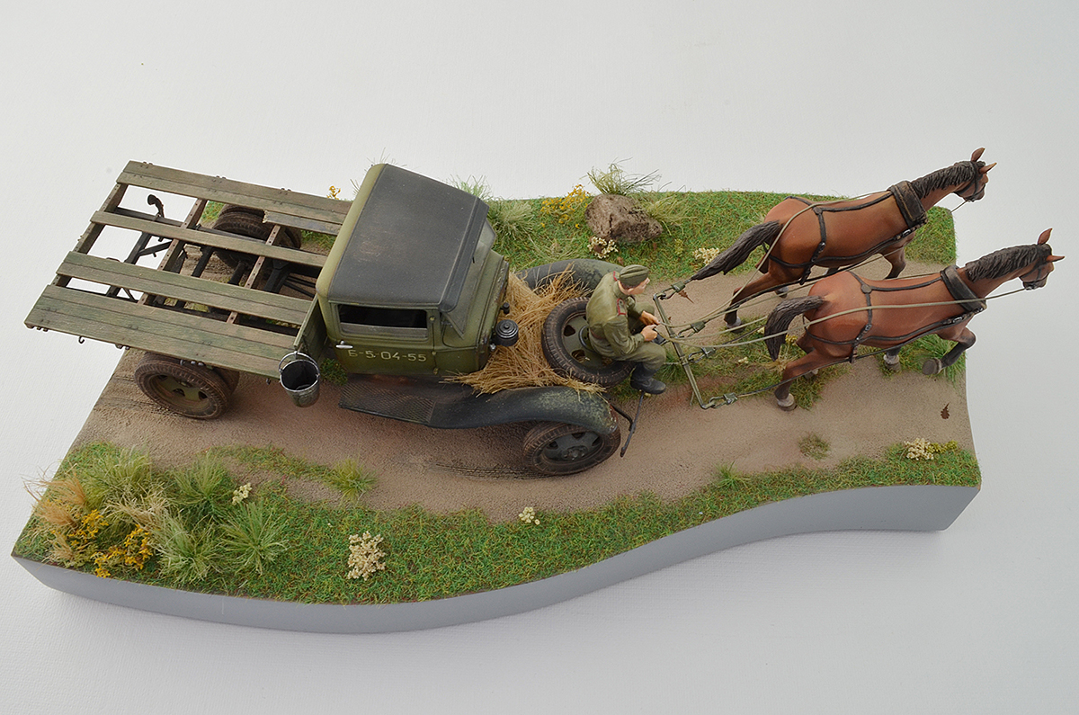 Dioramas and Vignettes: GAZ-AA: two horse powers, photo #5