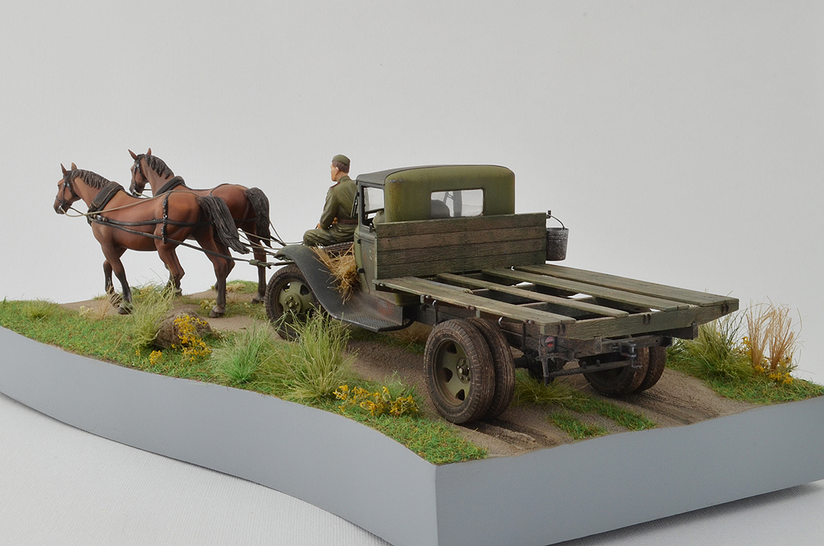Dioramas and Vignettes: GAZ-AA: two horse powers, photo #8