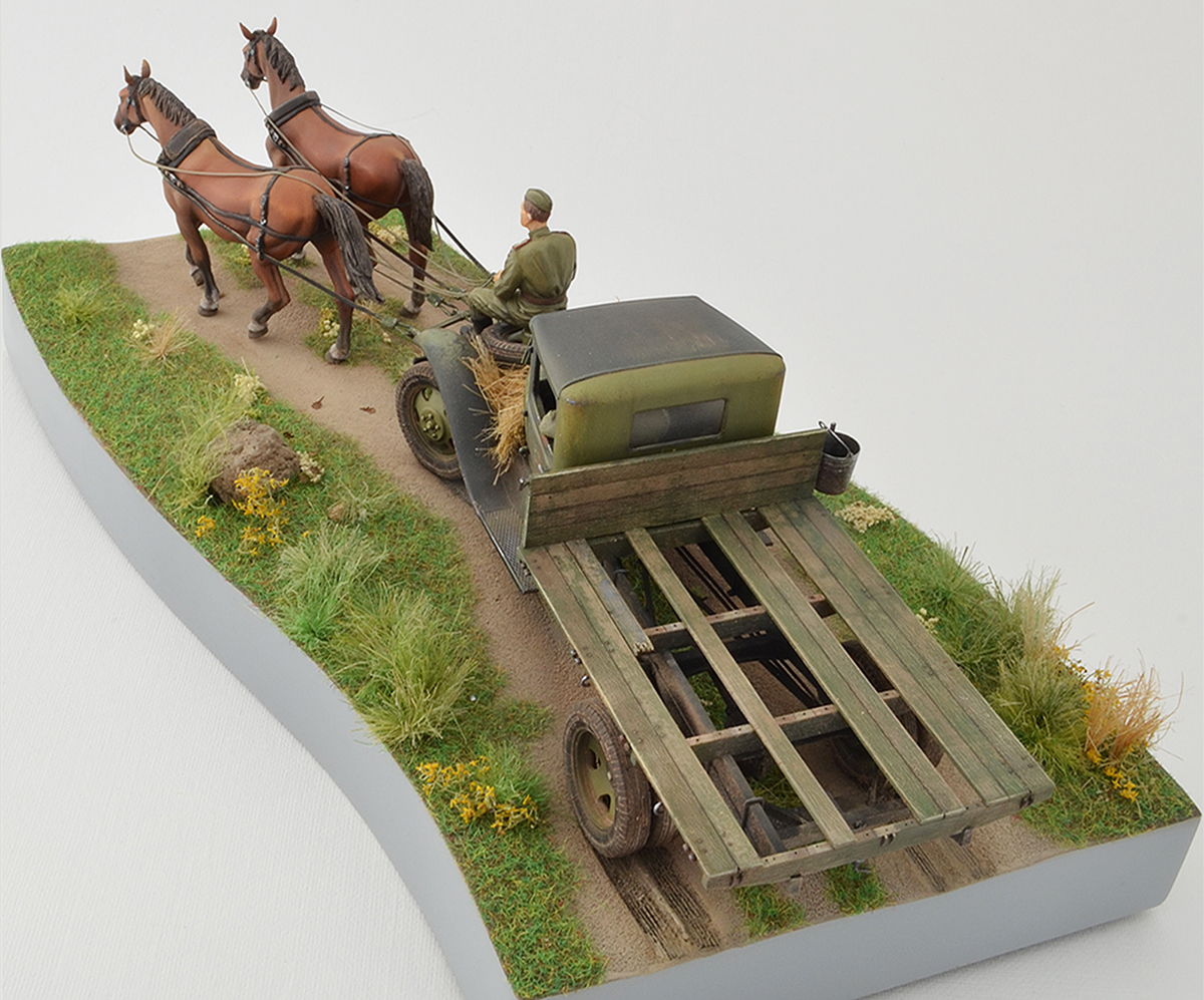 Dioramas and Vignettes: GAZ-AA: two horse powers, photo #9