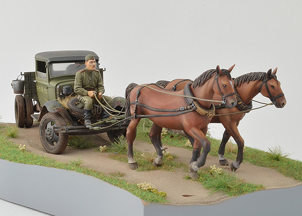 Dioramas and Vignettes: GAZ-AA: two horse powers
