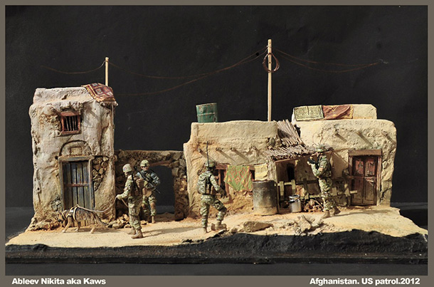 Dioramas and Vignettes: Patrol in Afghan province, 2012