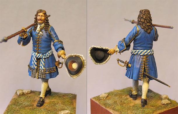 Figures: Bavarian Officer, 1701-1714