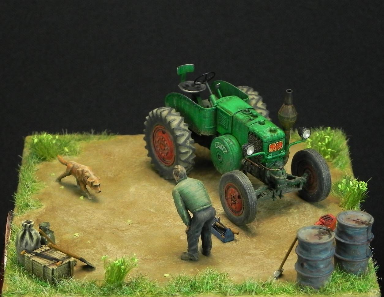 Dioramas and Vignettes: LANZ Bulldog 30HP, photo #3