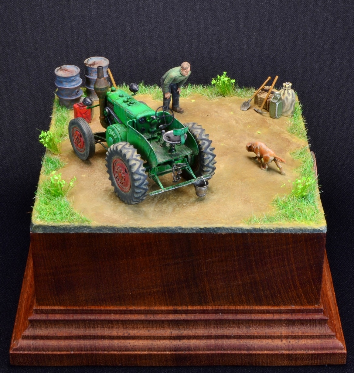Dioramas and Vignettes: LANZ Bulldog 30HP, photo #6