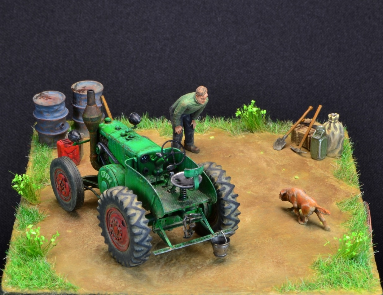 Dioramas and Vignettes: LANZ Bulldog 30HP, photo #8