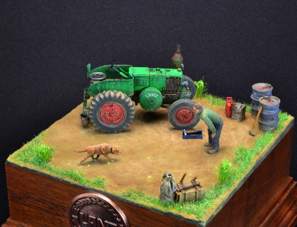 Dioramas and Vignettes: LANZ Bulldog 30HP, photo #9