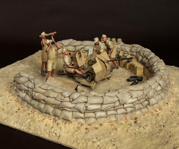 Dioramas and Vignettes: DAK AA artillery