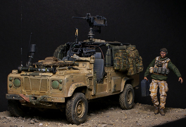 Dioramas and Vignettes: Land Rover WMIK. Afghanistan 2009