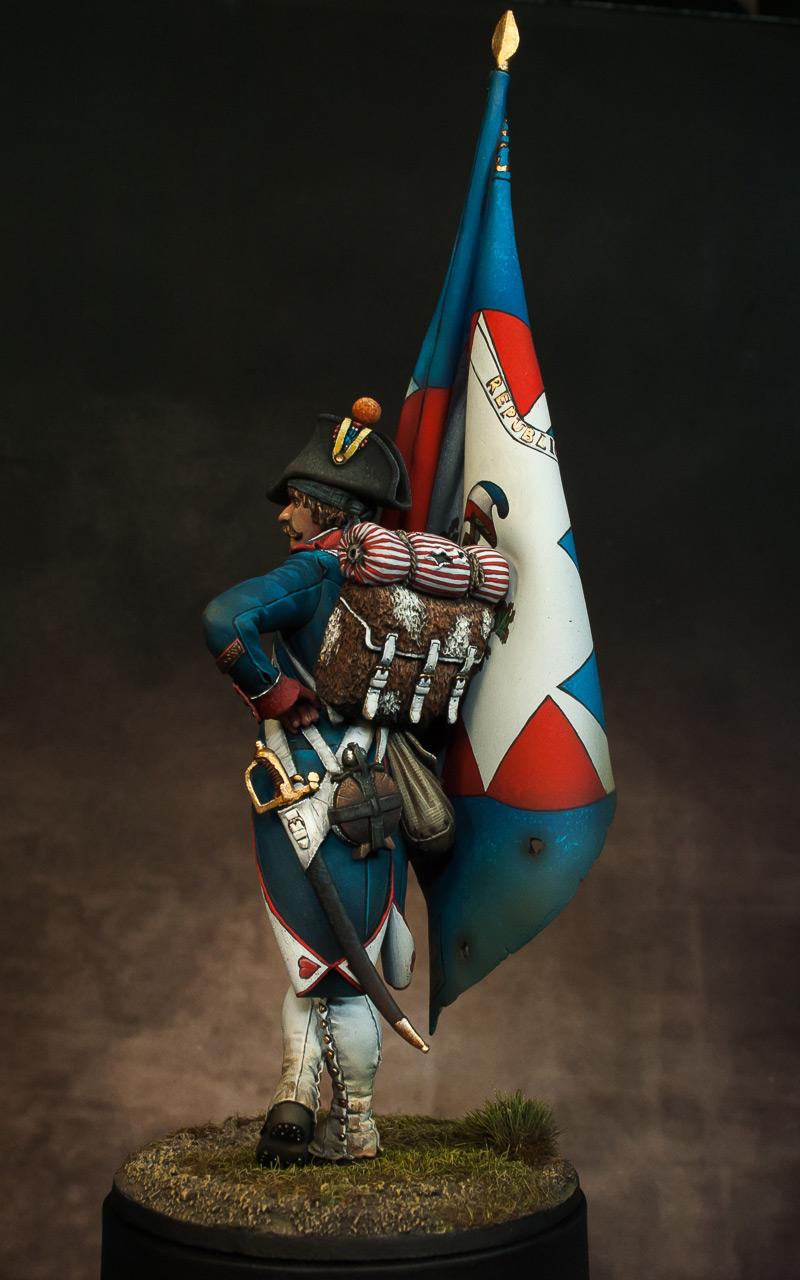Figures: French revolutionary standard bearer, photo #9