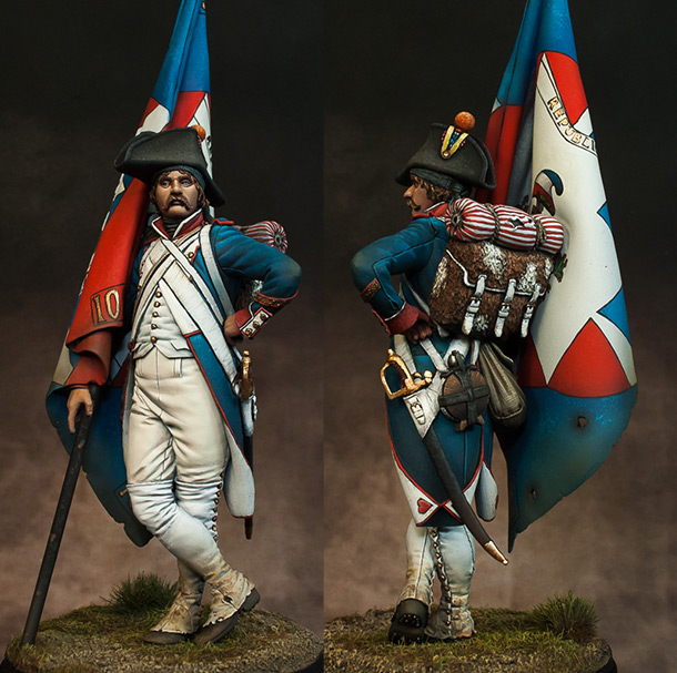 Figures: French revolutionary standard bearer