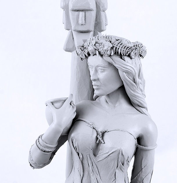 Sculpture: Slavic virgin at Kupalas Night
