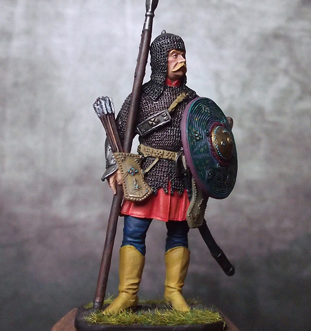 Figures: Polish armored cossack, late XVII cent.