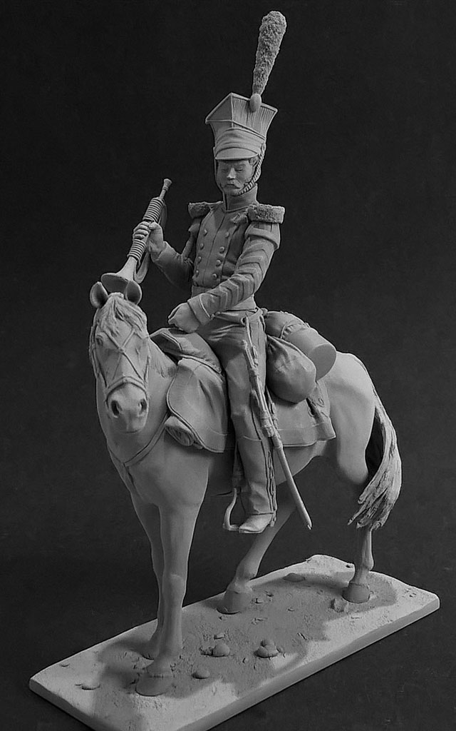 Sculpture: Bugler, army lancers regt, Russia, 1809-14, photo #1