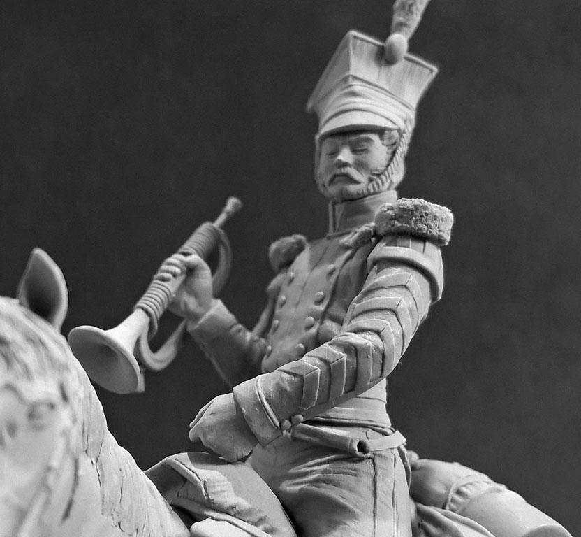 Sculpture: Bugler, army lancers regt, Russia, 1809-14, photo #10