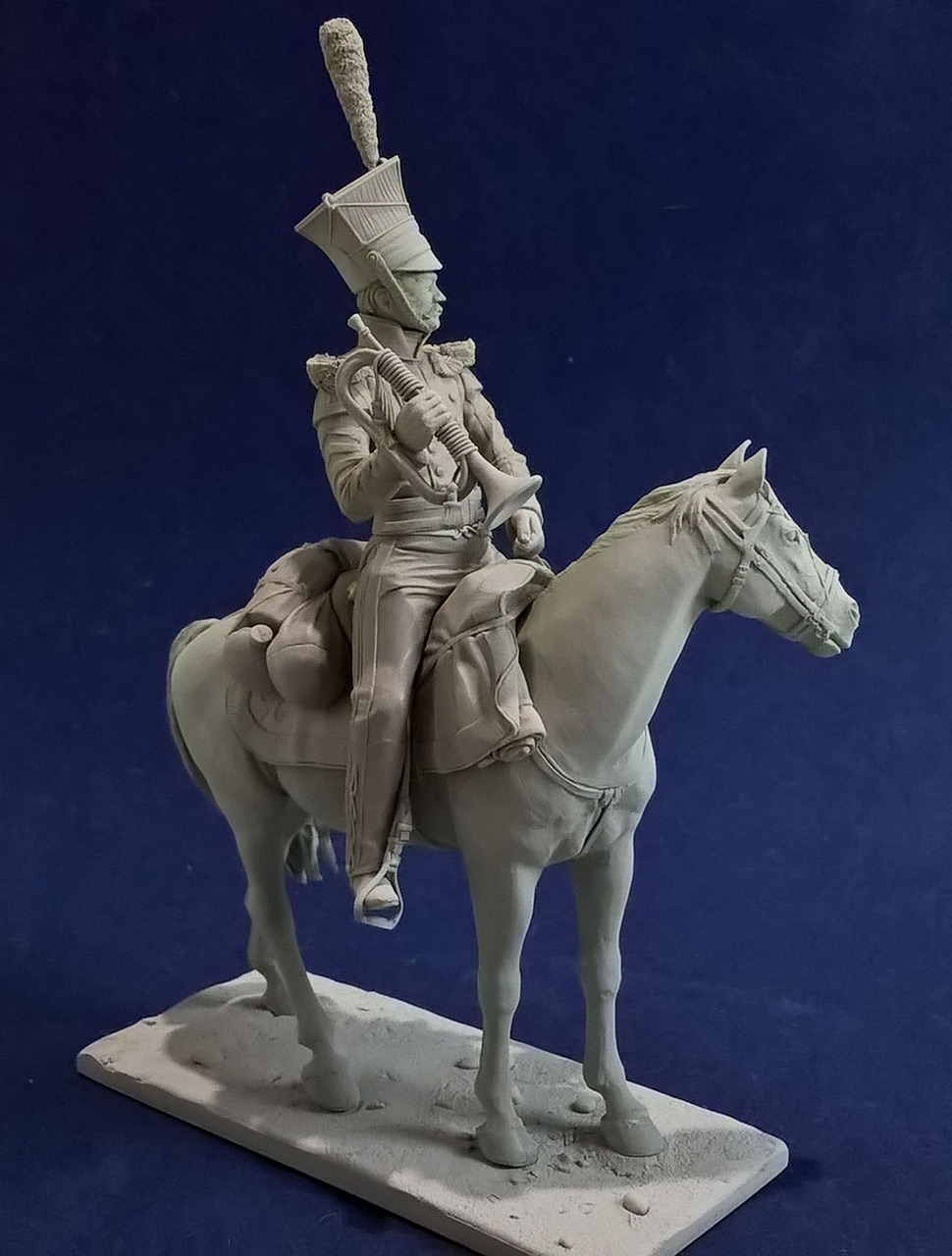 Sculpture: Bugler, army lancers regt, Russia, 1809-14, photo #14