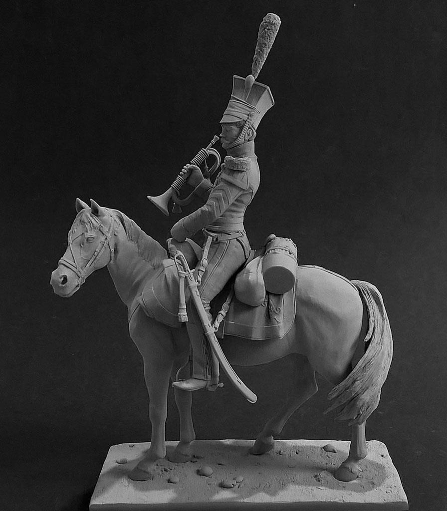 Sculpture: Bugler, army lancers regt, Russia, 1809-14, photo #2
