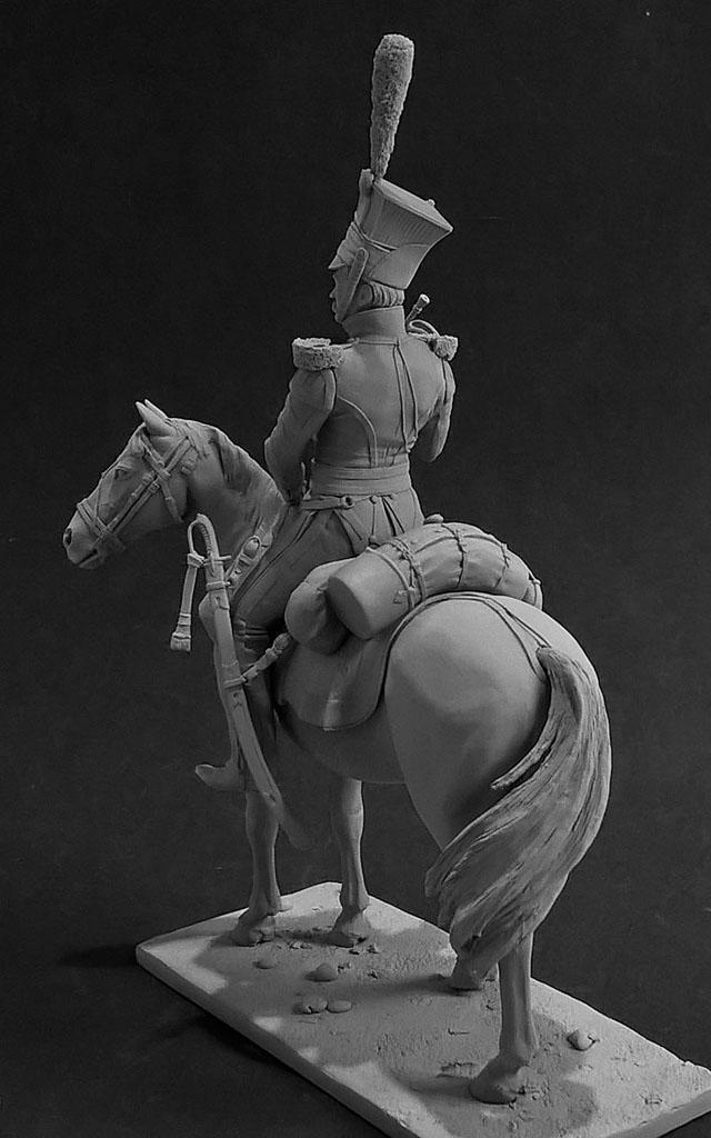 Sculpture: Bugler, army lancers regt, Russia, 1809-14, photo #3
