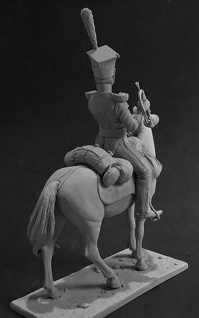 Sculpture: Bugler, army lancers regt, Russia, 1809-14, photo #4