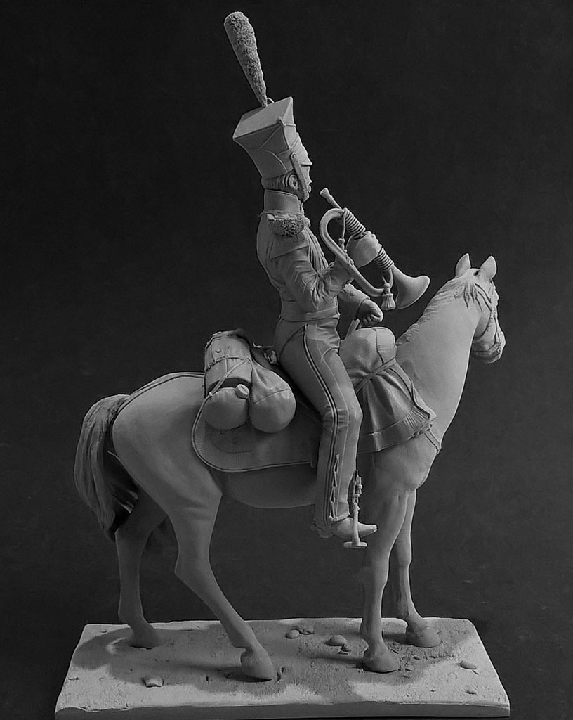 Sculpture: Bugler, army lancers regt, Russia, 1809-14, photo #5