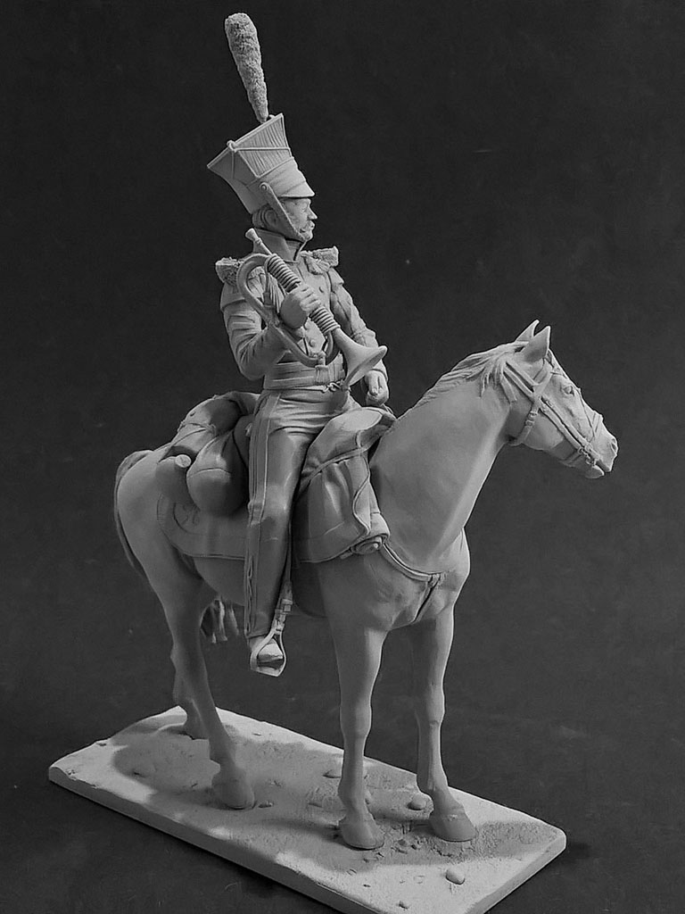 Sculpture: Bugler, army lancers regt, Russia, 1809-14, photo #6