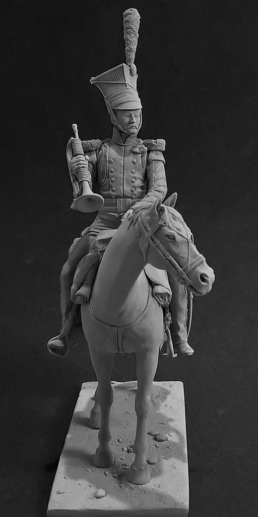 Sculpture: Bugler, army lancers regt, Russia, 1809-14, photo #7