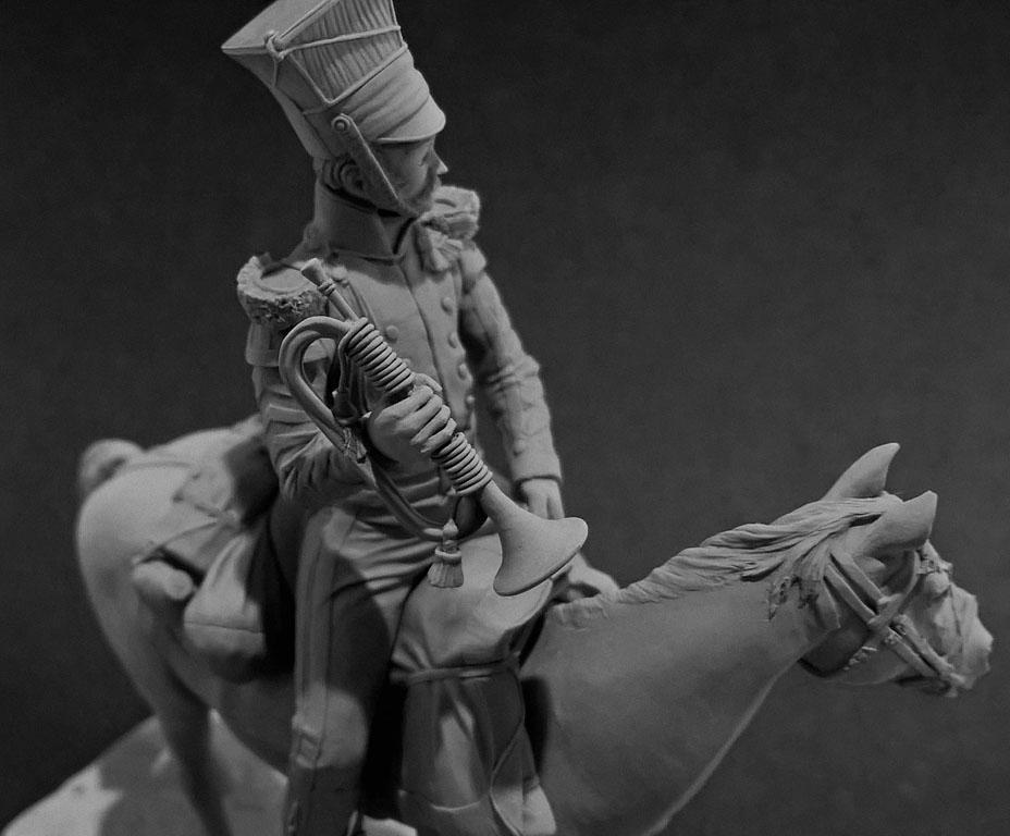 Sculpture: Bugler, army lancers regt, Russia, 1809-14, photo #9