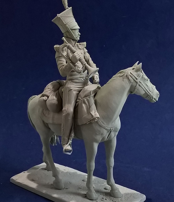 Sculpture: Bugler, army lancers regt, Russia, 1809-14