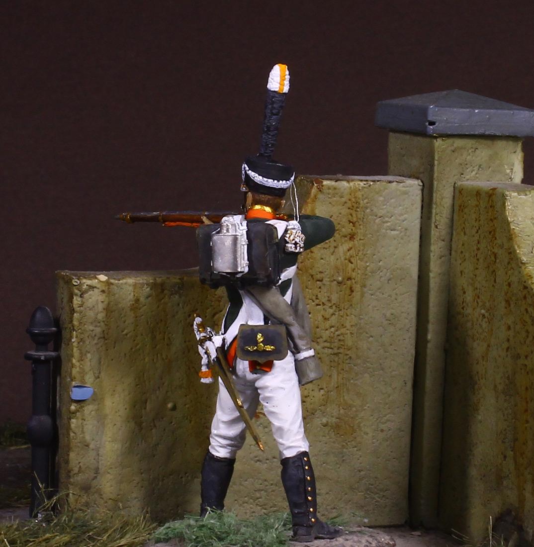 Figures: NCO, Grenadier company of Selenginsky inf. regt, 1812, photo #1