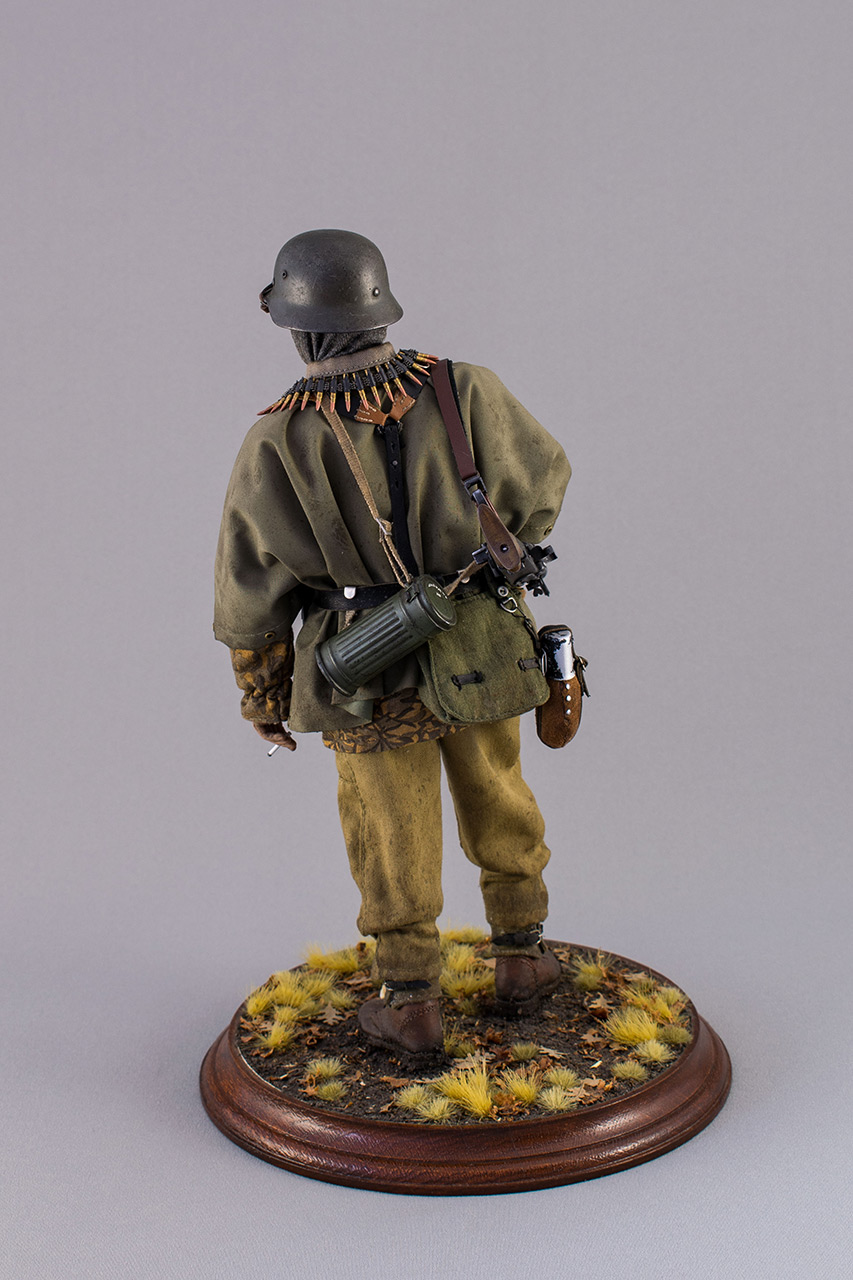 Figures: SS machine gunner, Kampfgruppe Hansen, photo #6