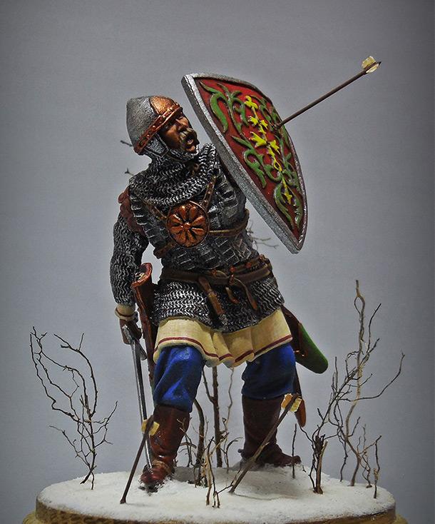 Figures: Russian warrior, XIII cent.