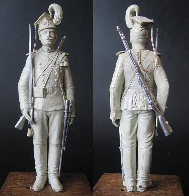 Sculpture: Private, army lancers, 1908-14