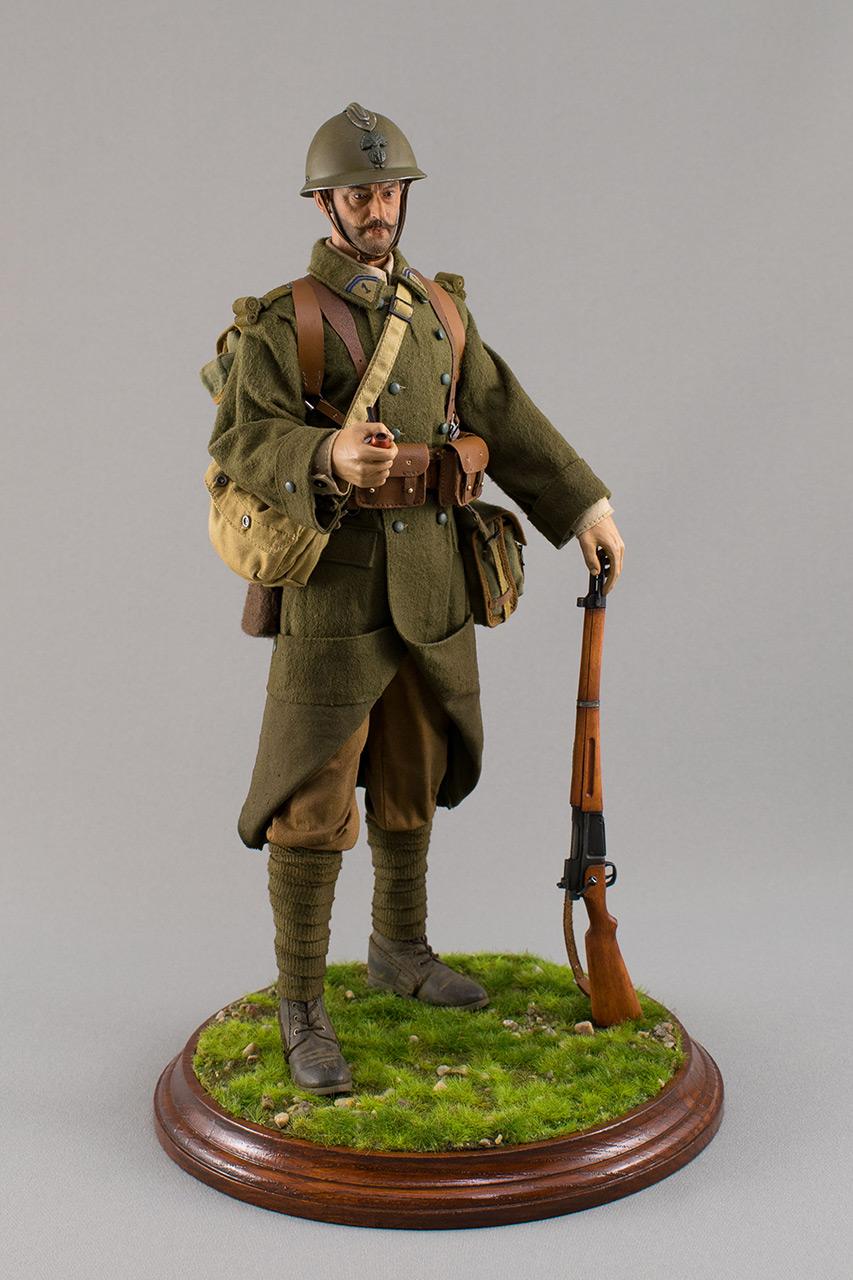 Figures: Infantryman, French army, 1940, photo #2