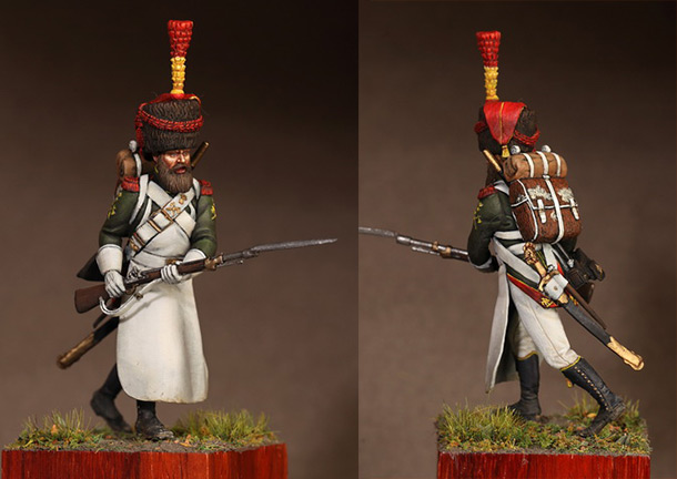 Figures: Sapper flanqueur grenadiers of the Guard 1812