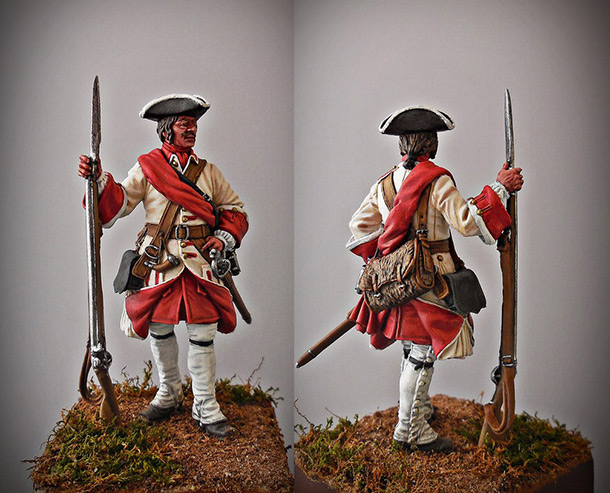 Figures: Corporal of line infantry, Russia, 1708-20