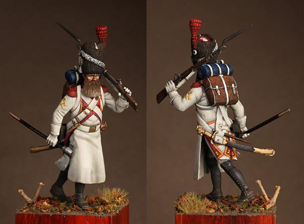 Figures: Pioneer, Dutch grenadiers. France 1812
