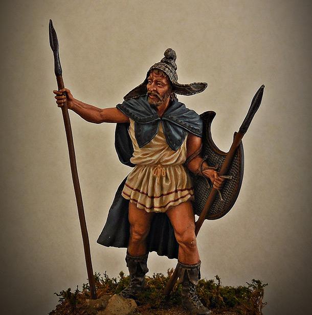 Figures: Thrakian peltast, V B.C.