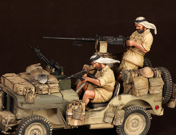 Figures: LRDG/SAS jeeps
