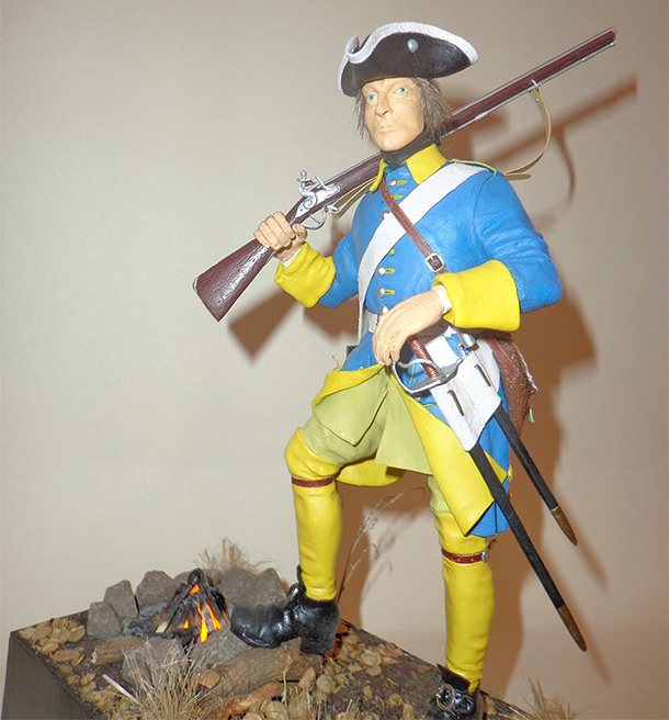 Sculpture: Swedish infantryman. Northern War
