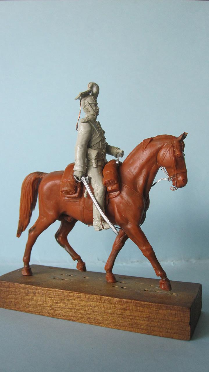 Sculpture: Captain, lancers regt., 1913, photo #1