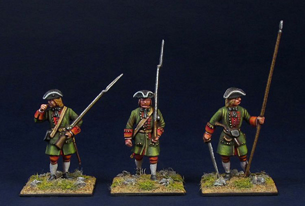 Figures: Russian infantry of Peter the Great