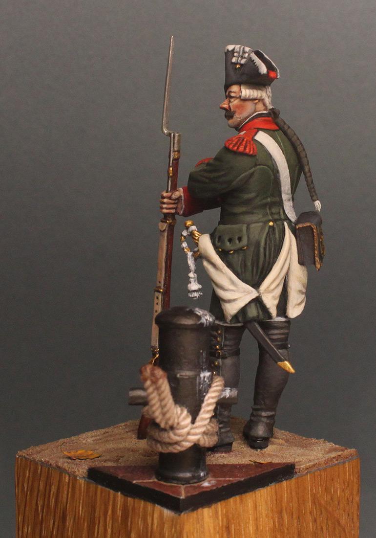 Figures: Musketeer, Baltic fleet naval btn, 1764-74, photo #4