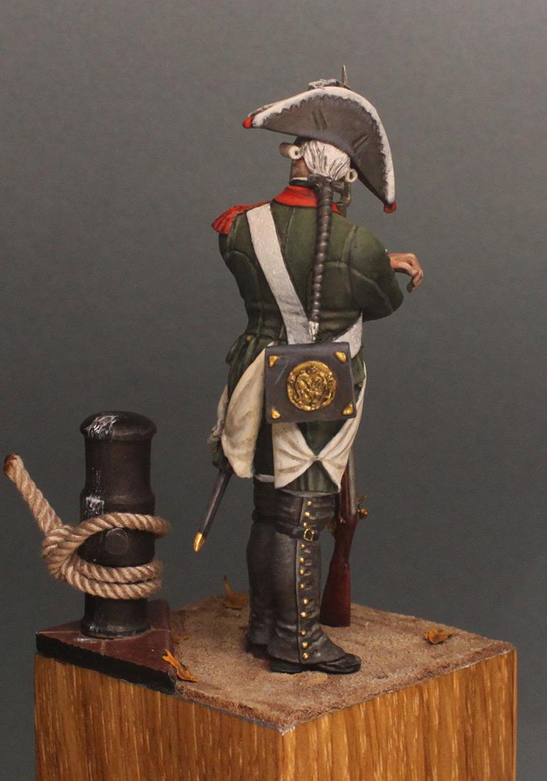 Figures: Musketeer, Baltic fleet naval btn, 1764-74, photo #6