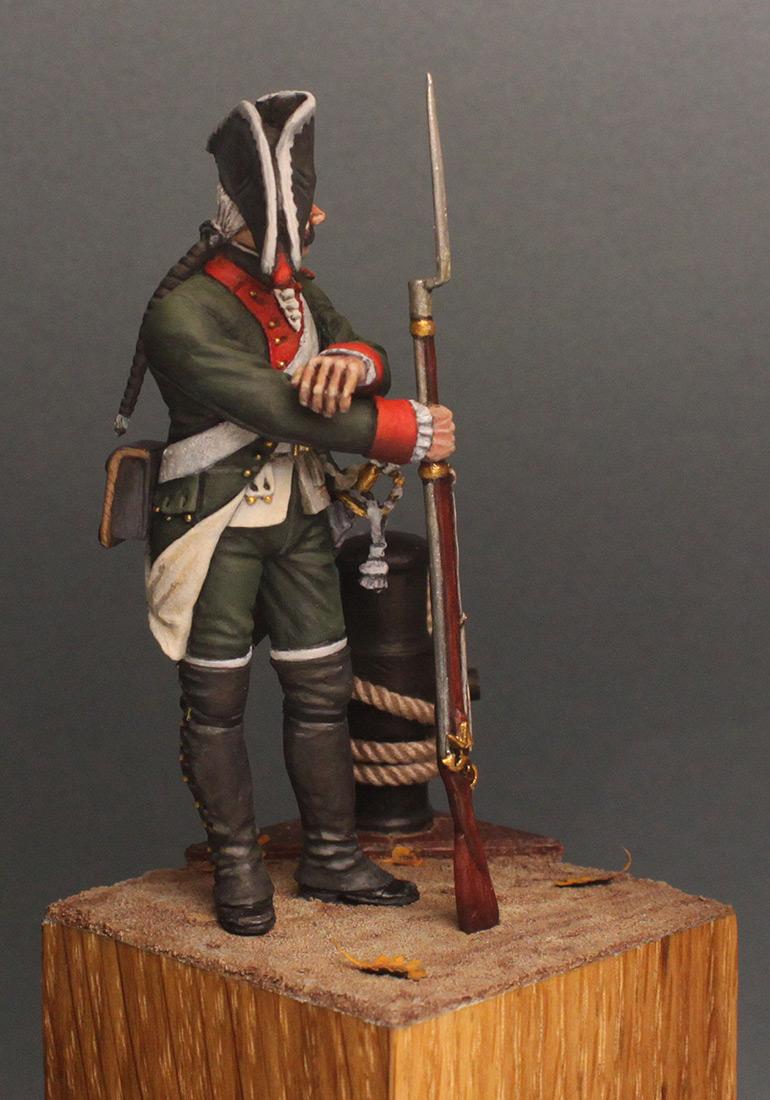 Figures: Musketeer, Baltic fleet naval btn, 1764-74, photo #8