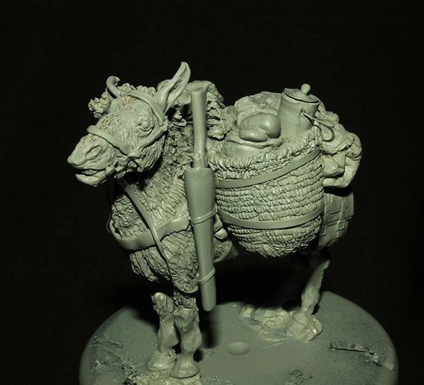 Sculpture: Mujahideen's mule