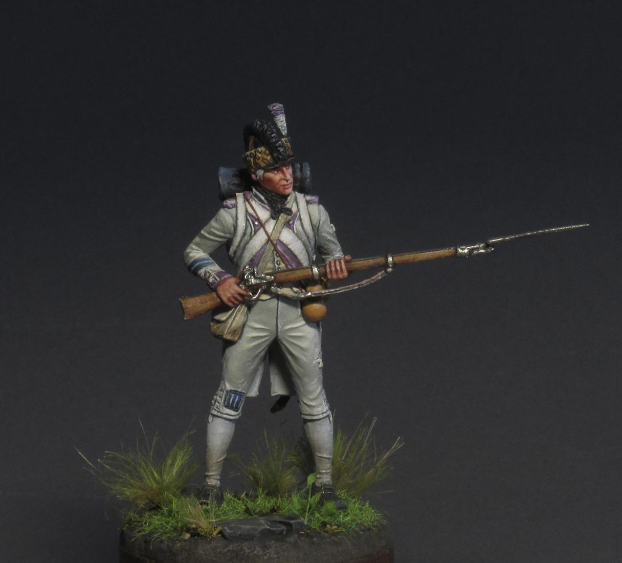 Figures: Fusilier, 17th regt., 1792, photo #1