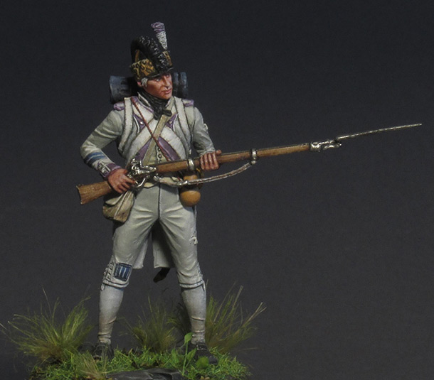 Figures: Fusilier, 17th regt., 1792