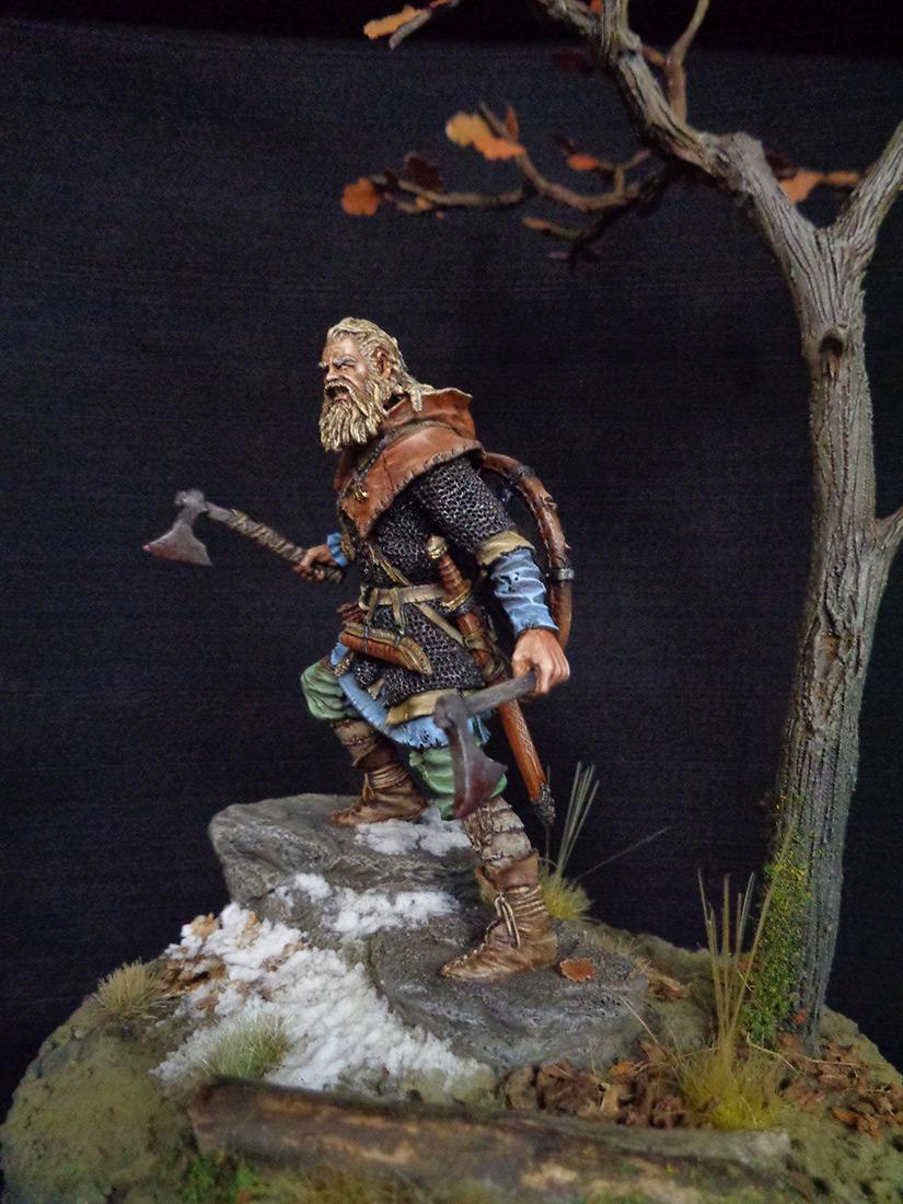 Figures: Scandinavian warrior, IX AD, photo #2