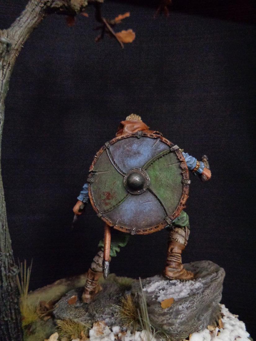 Figures: Scandinavian warrior, IX AD, photo #4