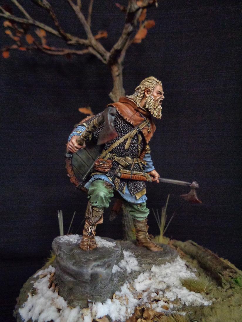 Figures: Scandinavian warrior, IX AD, photo #6