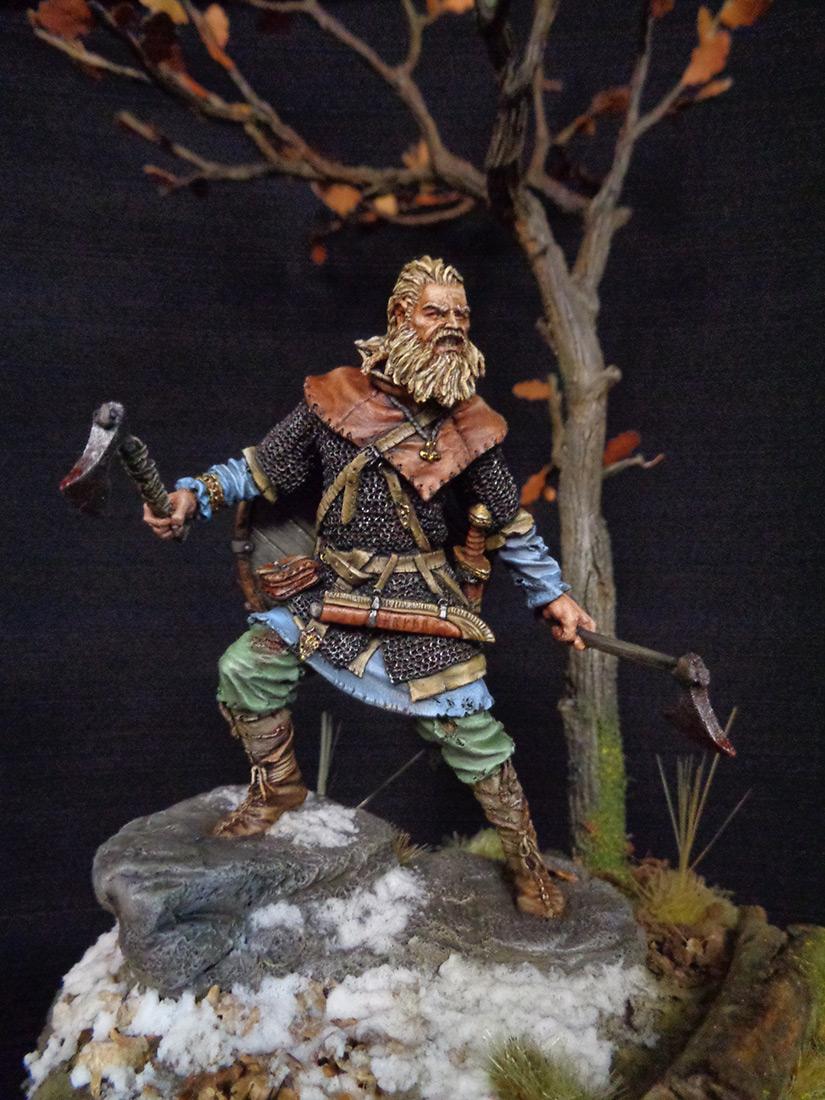 Figures: Scandinavian warrior, IX AD, photo #7